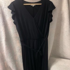 Black mid length dress